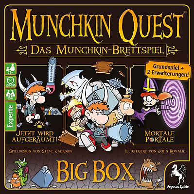 Einfach und sicher online bestellen: Munchkin Quest: Big Box in Österreich kaufen.
