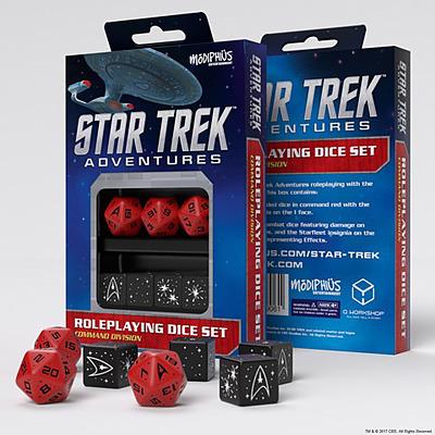 Einfach und sicher online bestellen: Star Trek Adventures Command Division Dice Set in Österreich kaufen.