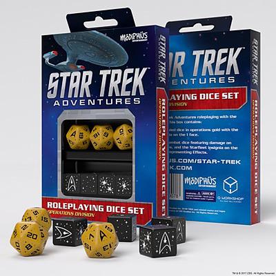 Einfach und sicher online bestellen: Star Trek Adventures Operations Division Dice Set in Österreich kaufen.