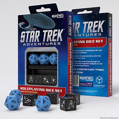 Einfach und sicher online bestellen: Star Trek Adventures: Sciences Divison Dice Set in Österreich kaufen.