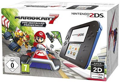 Einfach und sicher online bestellen: Nintendo 2DS black + Mario Kart 7 in Österreich kaufen.