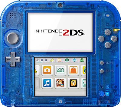 Einfach und sicher online bestellen: Nintendo 2DS Transparent Blau in Österreich kaufen.