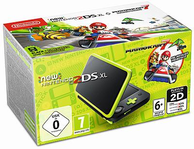 Einfach und sicher online bestellen: Nintendo 2DS XL schwarz/apfelgrün inkl. Mario Kart in Österreich kaufen.