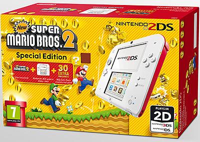 Einfach und sicher online bestellen: Nintendo 2DS white/red + New Super Mario Bros 2 in Österreich kaufen.