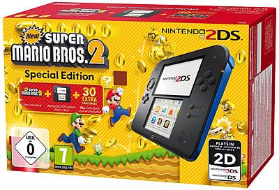 Einfach und sicher online bestellen: Nintendo 2DS black + New Super Mario Bros 2 in Österreich kaufen.