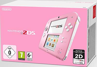 Einfach und sicher online bestellen: Nintendo 2DS pink/weiß in Österreich kaufen.