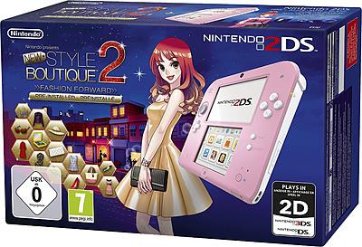 Einfach und sicher online bestellen: Nintendo 2DS pink + New Style Boutique 2 in Österreich kaufen.