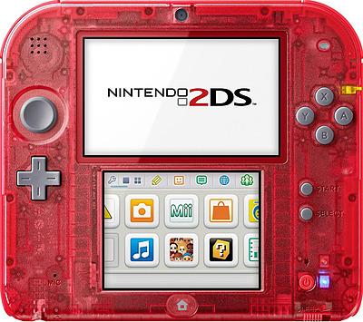 Einfach und sicher online bestellen: Nintendo 2DS Transparent Rot in Österreich kaufen.