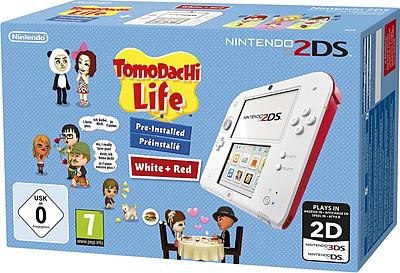 Einfach und sicher online bestellen: Nintendo 2DS rot/weiss + Tomodachi Life in Österreich kaufen.