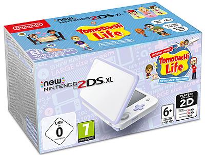 Einfach und sicher online bestellen: Nintendo 2DS XL weiß/lavendel inkl. Tomodachi Life in Österreich kaufen.