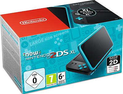 Einfach und sicher online bestellen: New Nintendo 2DS XL Schwarz/Türkis in Österreich kaufen.