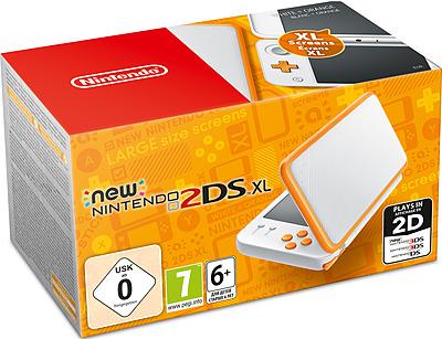 Einfach und sicher online bestellen: New Nintendo 2DS XL Weiß/Orange in Österreich kaufen.