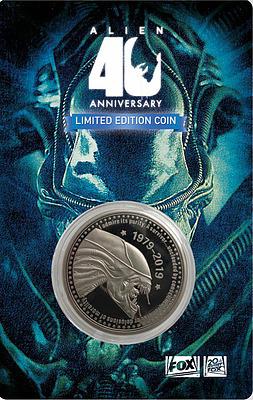 Einfach und sicher online bestellen: Alien Sammelmünze 40th Anniversary Silver Edition in Österreich kaufen.