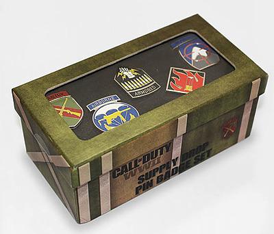 Einfach und sicher online bestellen: Call of Duty Supply Drop Pin Badge Set in Österreich kaufen.
