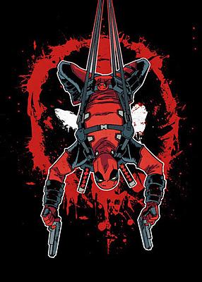 Einfach und sicher online bestellen: Deadpool Metall-Poster Deadpool Hang in There in Österreich kaufen.