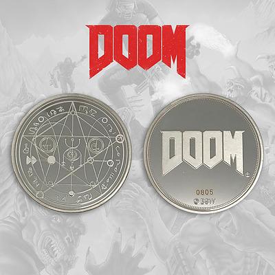 Einfach und sicher online bestellen: Doom Sammelmünze Logo in Österreich kaufen.