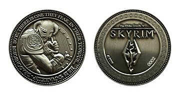 Einfach und sicher online bestellen: The Elder Scrolls Skyrim Sammelmünze Dragonborn in Österreich kaufen.