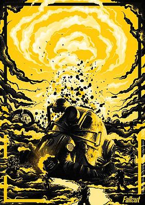 Einfach und sicher online bestellen: Fallout Kunstdruck Limited Edition in Österreich kaufen.