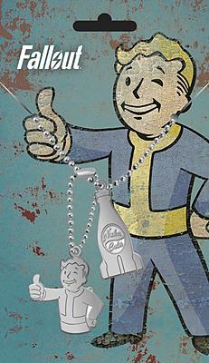 Einfach und sicher online bestellen: Fallout Erkennungsmarken mit Kette Nuka Cola in Österreich kaufen.