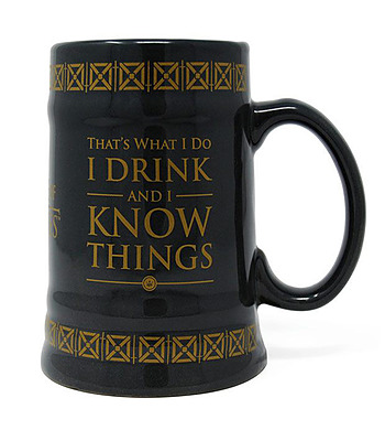 Einfach und sicher online bestellen: Game of Thrones Bierkrug Drink & Know Things in Österreich kaufen.
