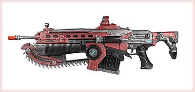 Einfach und sicher online bestellen: Gears of War 5 Replica 1:1 Crimson Lancer MK 3 in Österreich kaufen.