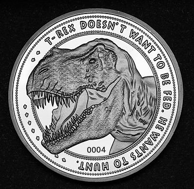 Einfach und sicher online bestellen: Jurassic Park Sammelmünze 25th Anniversary T-Rex in Österreich kaufen.