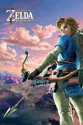 Einfach und sicher online bestellen: Legend of Zelda Breath of the Wild Poster Scenery in Österreich kaufen.