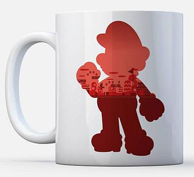 Einfach und sicher online bestellen: Nintendo Tasse Mario Silhoutte in Österreich kaufen.
