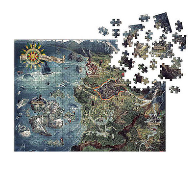 Einfach und sicher online bestellen: The Witcher Puzzle Witcher World Map in Österreich kaufen.