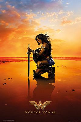 Einfach und sicher online bestellen: Wonder Woman Poster Kneel (5) in Österreich kaufen.