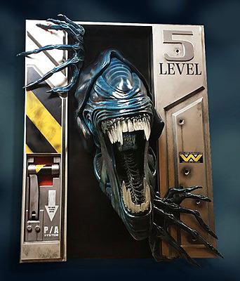 Einfach und sicher online bestellen: Aliens Life Sixe Wand-Skulptur Alien Queen in Österreich kaufen.