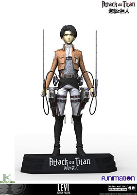 Einfach und sicher online bestellen: Attack on Titan Actionfigur Levi Ackerman in Österreich kaufen.