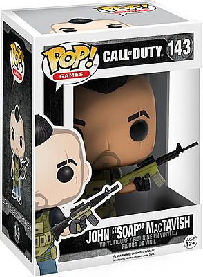 Einfach und sicher online bestellen: Call of Duty POP! Vinyl Figur John Soap MacTavish in Österreich kaufen.