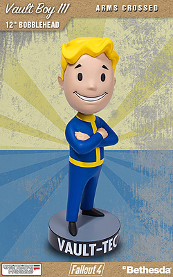 Einfach und sicher online bestellen: Fallout 4 Wackelkopf-Figur Vault Boy Arms Crossed in Österreich kaufen.