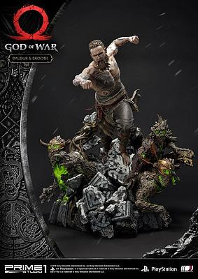 Einfach und sicher online bestellen: God of War Statue Baldur & Broods in Österreich kaufen.
