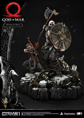 Einfach und sicher online bestellen: God of War Statue Kratos & Atreus 72cm in Österreich kaufen.