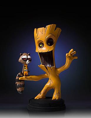 Einfach und sicher online bestellen: Guardians of the Galaxy Mini-Statue Groot & Rocket in Österreich kaufen.