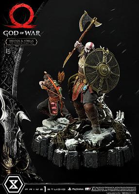 Einfach und sicher online bestellen: God of War Statue Kratos and Atreus in the Val. in Österreich kaufen.