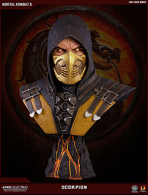 Einfach und sicher online bestellen: Mortal Kombat X Büste Scorpion 1/1 in Österreich kaufen.