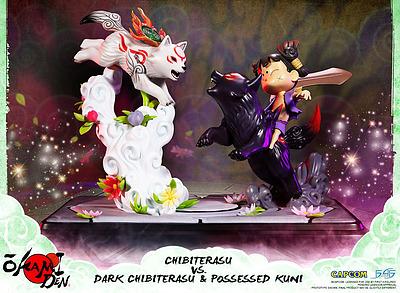 Einfach und sicher online bestellen: Okami Statue Chibiterasu vs. Dark Chibiterasu in Österreich kaufen.