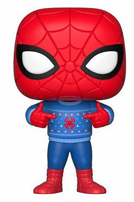 Einfach und sicher online bestellen: Spider-Man POP! Vinyl Figur Ugly Sweater in Österreich kaufen.