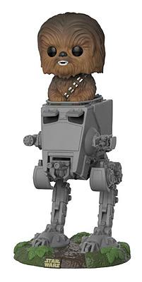Einfach und sicher online bestellen: Star Wars POP! Vinyl Chewbacca with AT-ST in Österreich kaufen.