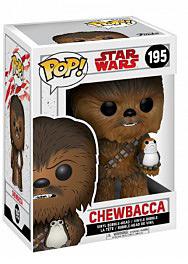 Einfach und sicher online bestellen: Star Wars POP! Vinyl Figur Chewbacca und Porg in Österreich kaufen.