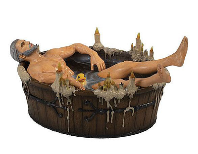 Einfach und sicher online bestellen: The Witcher 3 Statue Geralt in der Badewanne in Österreich kaufen.