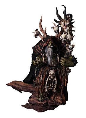 Einfach und sicher online bestellen: World of Warcraft Premium Statue Guldan in Österreich kaufen.