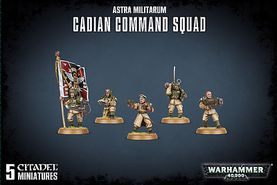 Einfach und sicher online bestellen: Astra Militarum Cadian Command Squad in Österreich kaufen.