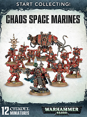 Einfach und sicher online bestellen: Warhammer 40k Start Collecting Chaos Space Marines in Österreich kaufen.