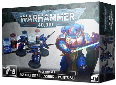 Einfach und sicher online bestellen: Space Marines: Assault Intercessor Paint Set in Österreich kaufen.