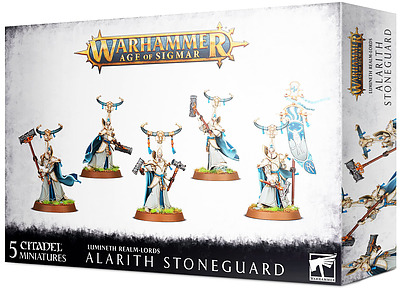 Einfach und sicher online bestellen: Lumineth Realm-Lords: Alarith Stoneguard in Österreich kaufen.