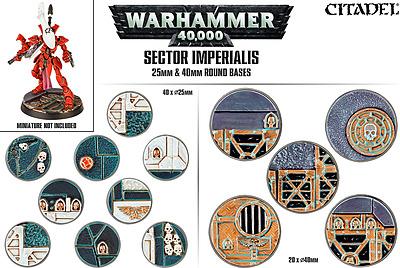 Einfach und sicher online bestellen: Sector Imperialis: 25mm + 40mm Rundbases in Österreich kaufen.